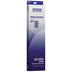 Image of Epson S015055 Black Ribbon Cassette for DFX-5000/+/8000/8500