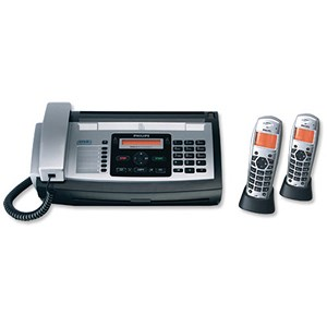 Image of Philips Magic 5 Eco Voice Fax and Answer Machine 2 Handsets 50 Speed Dials 50pp Memory Ref PPF685E/GBBP2