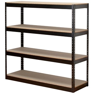 Image of Influx Archive Shelving Unit / 4 Shelves / W1320mm Wide / Black