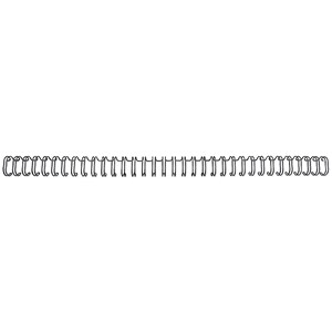 Image of GBC Binding Wire Elements / 34 Loop / 6mm / Black / Pack of 100
