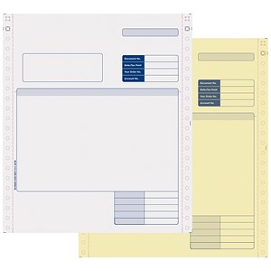 Image of Sage Compatible 2 Part Invoice NCR Paper / Tinted Copies / Pack of 1000