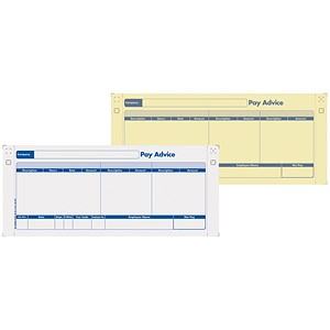Image of Sage Compatible 2 Part Pay Advice with NCR File Copy - Pack of 1000