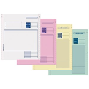 Image of Sage Compatible 4 Part Invoice NCR Paper / Tinted Copies / Pack of 500