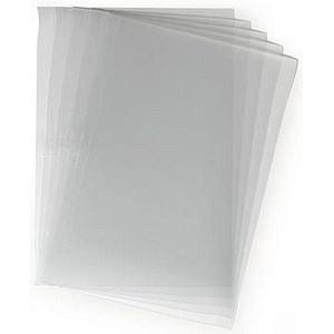 Image of PVC Report Covers / A3 Folds to A4 / Clear / Pack of 50