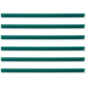 Image of Durable Spinebar / 6mm / Up to 60 A4 Sheets / Green / Pack of 50