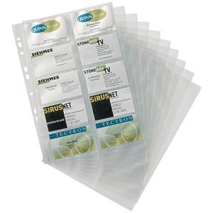Image of Durable Visifix Refill Set for A4 Business Card Album - Capacity: 200 57x90mm Cards