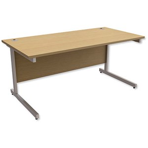 Image of Trexus Contract Rectangular Desk / 1600mm Wide / Oak