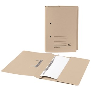 Image of 5 Star Transfer Spring File with Pocket 285gsm 38mm Foolscap Buff [Pack 25]