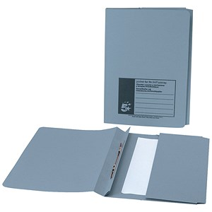 Image of 5 Star Pocket Flat File / Recycled / 285gsm / 38mm / Foolscap / Blue / Pack of 25