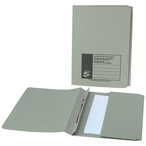 Image of 5 Star Pocket Flat File / Recycled / 285gsm / 38mm / Foolscap / Green / Pack of 25