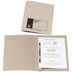 Image of 5 Star Flat File Recycled Manilla 285gsm 38mm Foolscap Buff [Pack 50]
