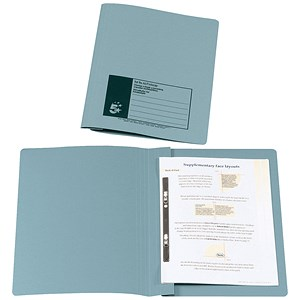 Image of 5 Star Flat File / Recycled / 285gsm / 38mm / Foolscap / Blue / Pack of 50