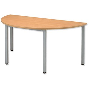 Image of Sonix Semicircular Table / 1600mm Wide / Beech