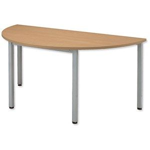Image of Sonix Semicircular Table / 1600mm Wide / Oak