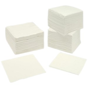 Image of Large 2-Ply Napkins / 400x400mm / White / Pack of 250
