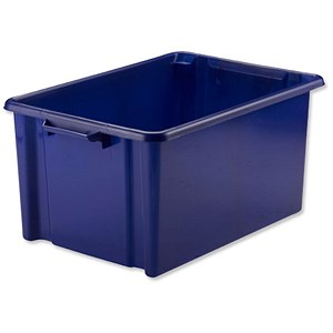 Image of Strata Storemaster Jumbo Crate / Blue / 48.5 Litre