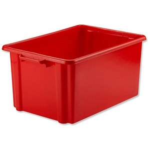 Image of Strata Storemaster Jumbo Crate / Red / 48.5 Litre