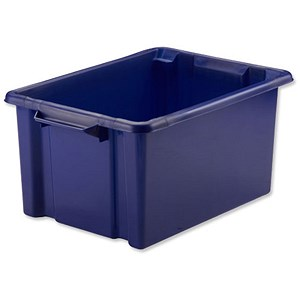 Image of Strata Storemaster Maxi Crate / Blue / 32 Litre