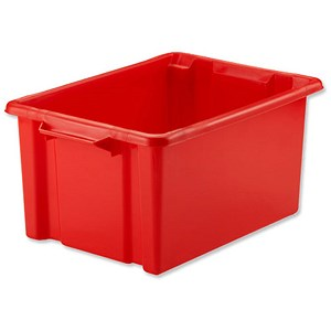 Image of Strata Storemaster Maxi Crate / Red / 32 Litre