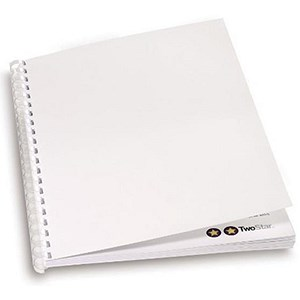 Image of GBC Comb Binding Covers / 220gsm / Matt Silk White / A4 / Pack of 100