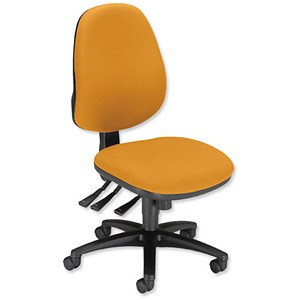 Image of Sonix Support S1 Chair Asynchronous High Back Seat W480xD450xH460-570mm Sunset Yellow
