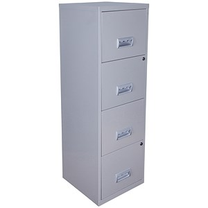 Image of Pierre Henry 4-Drawer Filing Cabinet / A4 / Silver