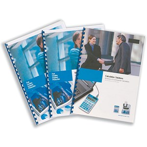 Image of GBC PVC Binding Covers / 240 micron / Deluxe / A4 / Clear / Pack of 100