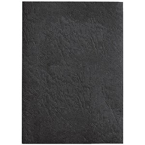 Image of GBC Antelope Binding Covers / 250gsm / A4 / Leather-look / Black / Pack of 100
