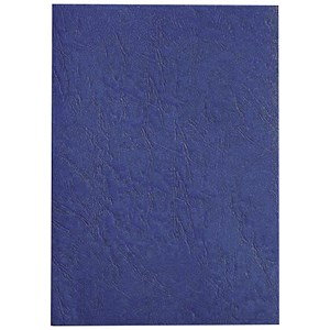 Image of GBC Antelope Binding Covers / 250gsm / A4 / Leathergrain / Royal Blue / Pack of 100