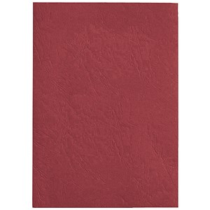 Image of GBC Antelope Binding Covers / 250gsm / A4 / Leathergrain / Red / Pack of 100
