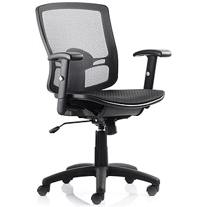 Image of Influx Task All Mesh Chair - Black