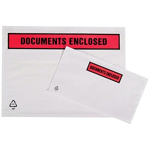 Image of Packing List Envelopes / C4 / Documents Enclosed / Pack of 500