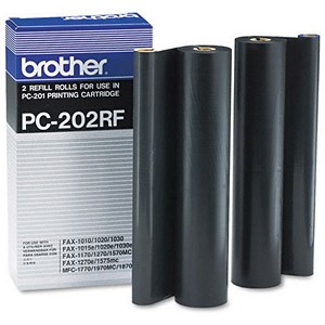 Image of Brother PC202RF Black Fax Ribbon (Twin Pack)