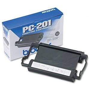 Image of Brother PC201 Black Fax Cartridge and Thermal Ribbon
