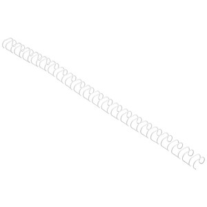 Image of GBC Binding Wire Elements / 21 Loop / 8mm / White / Pack of 100