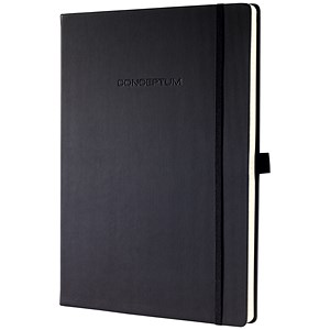 Image of Sigel Conceptum Padded Cover Notebook / A5 / Ruled / 194 Pages / Black