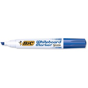Image of Bic Velleda 1751 Whiteboard Marker / Chisel Tip / Blue / Pack of 12