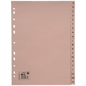 Image of 5 Star Eco Subject Dividers / A-Z / A4 / Buff