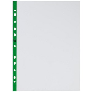 Image of 5 Star A4 Plastic Pockets / Top-opening / 50 Micron / Pack of 100