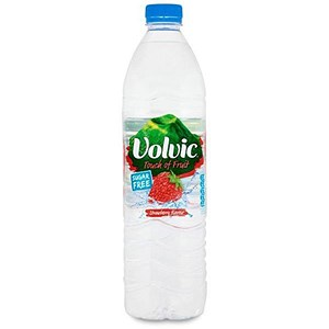 Image of Volvic Touch Of Fruit / Strawberry Flavour / 24 x 500ml Plastic Bottles