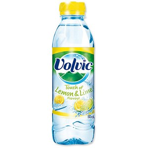 Image of Volvic Touch Of Fruit / Lemon and Lime Flavour / 24 x 500ml Plastic Bottles