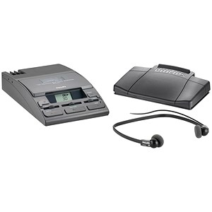 Image of Philips Transcription Kit of Machine 155 Power Supply 234 Headset and 210 Foot Control Ref LFH720T