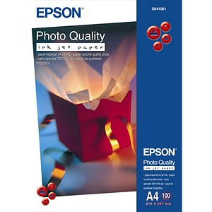 Image of Epson A4 Matt Quality Photo Inkjet Photo Paper / White / 104gsm / Pack of 100