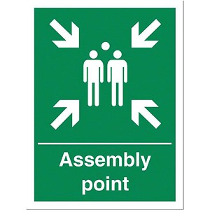 Image of Stewart Superior Fire Assembly Point Sign 400x600mm Polypropylene Ref KS009PVC