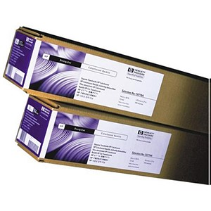 Image of HP DesignJet Special Inkjet Paper Roll / 610mm x 45.7m / White / 90gsm / 24 inch