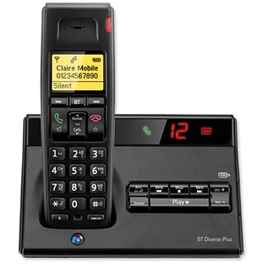 Image of BT Diverse 7150 Plus DECT Telephone Cordless SMS TAM 27min 10 Redials Ref 060744
