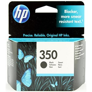 Image of Hewlett Packard (HP) No. 350 Inkjet Cartridge - Black / Ref CB335EE