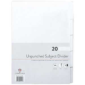 Image of Concord Presentation Index / Unpunched / 5-Part / A4 / White / Pack of 20