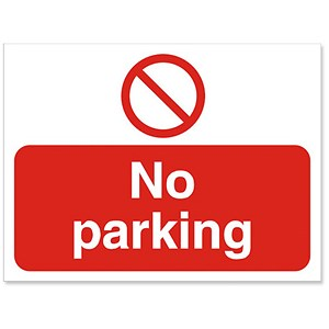 Image of Stewart Superior Outdoor No Parking Sign Polypropylene W600xH450mm Ref KS011