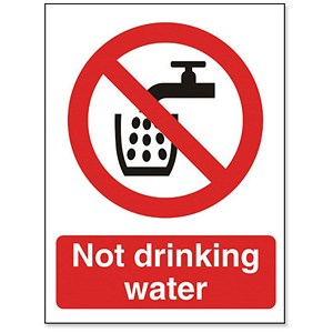 Image of Stewart Superior Catering Sign Not Suitable for Drinking W150xH200mm Self Adhesive Ref P093PP
